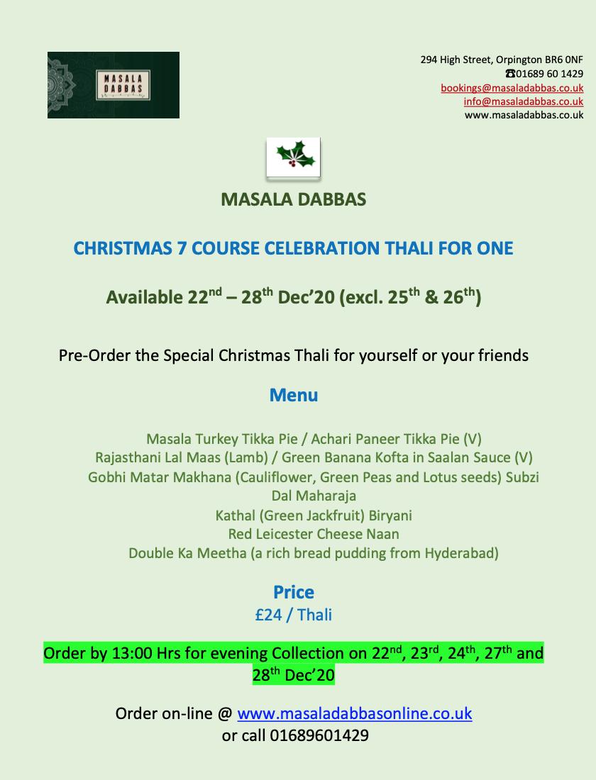 Christmas thali